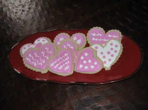 Fancy sugar cookies for your sweetie!