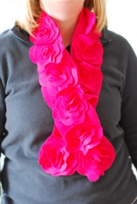 Felt Flower Scarf for Kids