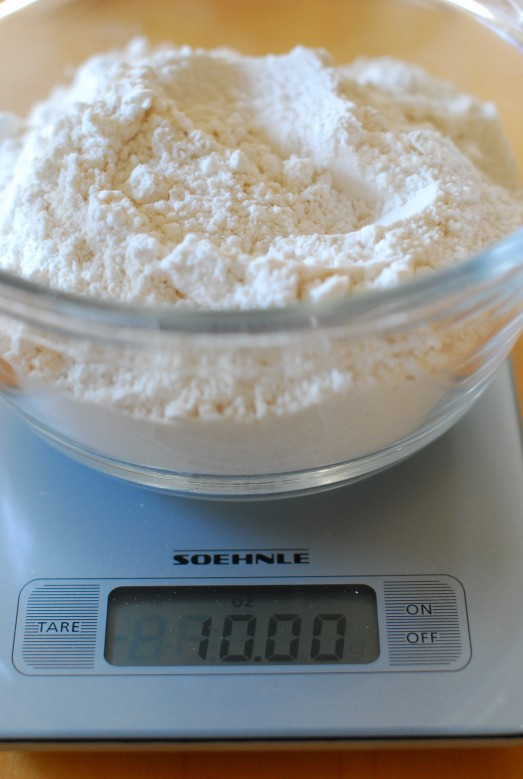 Measure the flour