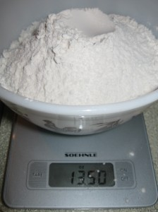 Weigh your flour