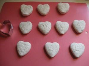 Heart doughnuts