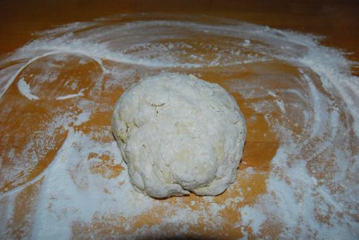 Knead the dough for 5 minutes